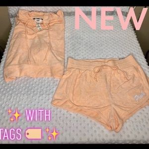 ✨AUTHENTIC ✨ PINK  TERRY CLOTH SHORT SET